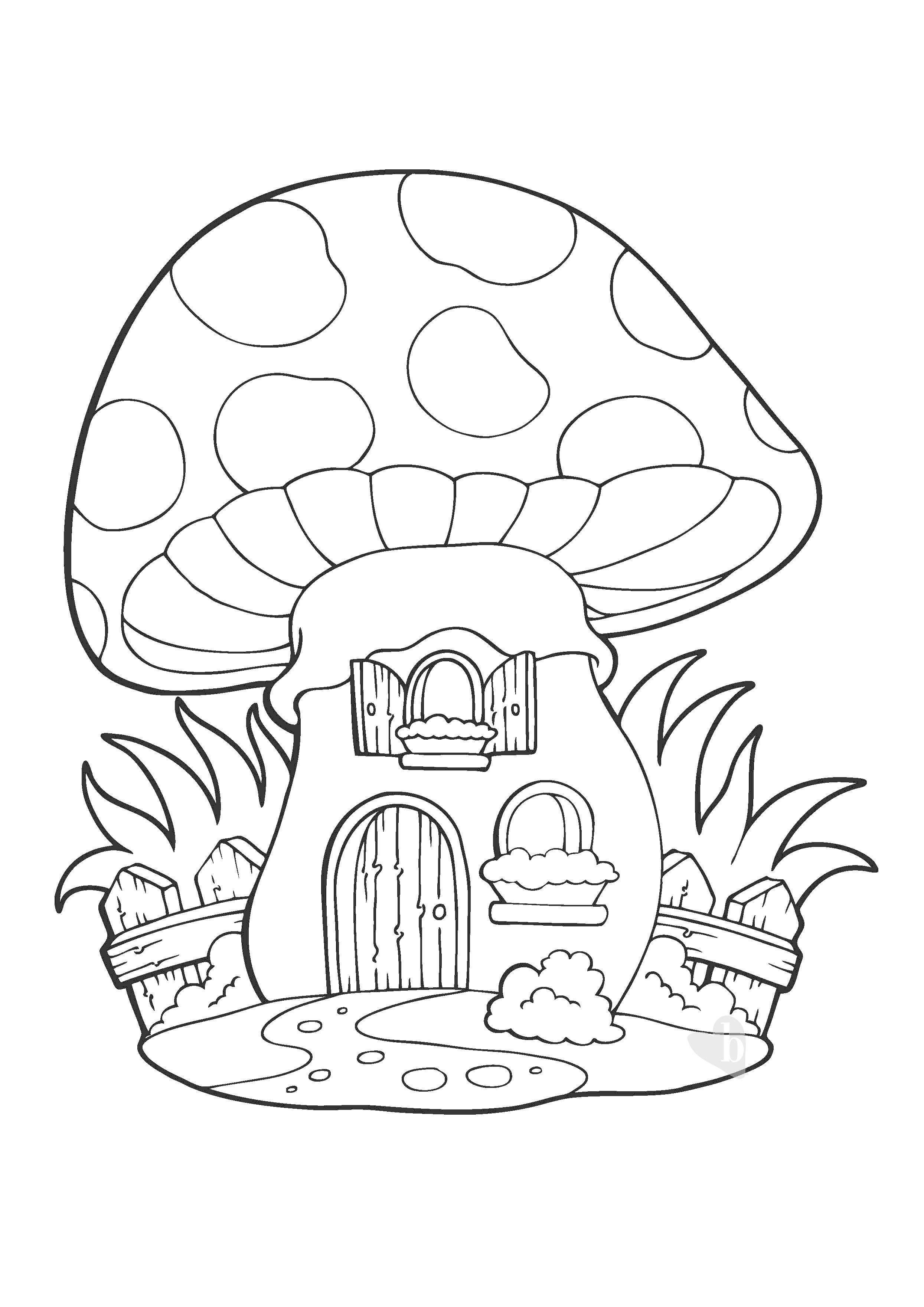 La casa fungo da colorare bimbi sani e belli for Casa disegno